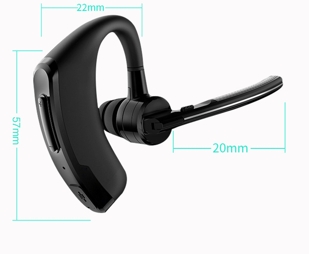 Handsfree business bluetooth headset with mic sweatproof voice control headphone for sports driving  noise cancelling earphone (2)