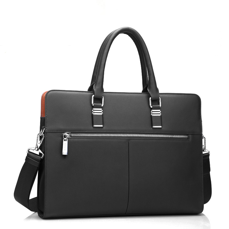 Best quality genuine real leather laptop bags 1