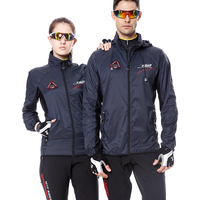 Autumn Hooded Cycling Jacket Windproof Cycling Cloth Jersey Long Sleeve Coat Breathable Men Road Mountain Bike Jacket