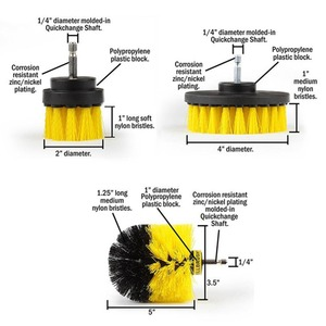Image 2 - 3 Pcs/set Power Scrub Brush Drill Cleaning Brush For Bathroom Shower Tile Grout Cordless Power Scrubber Drill Attachment Brush