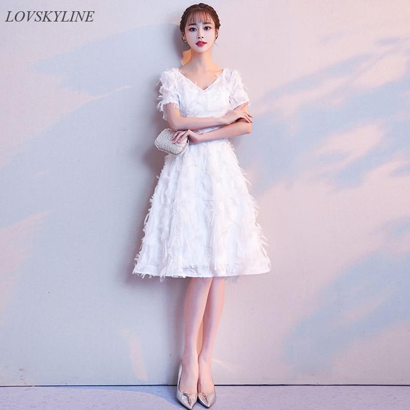 Elegant   Bridesmaid     Dresses   Pretty Chiffon New Style A-line Short Sleeves V-neck 2018   Bridesmaid   For Wedding Party birthday   Dress