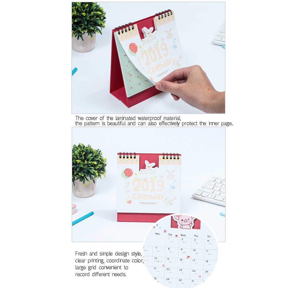 Office & School Supplies 1 Piece 15cm 2019 Cute Animal Calendar Office Stationery Desk Notebook Promotion Gift Girls Birthday Gift Carefully Selected Materials Calendars, Planners & Cards