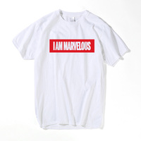 I Am Marvelous Letter T-Shirt men cartoon printed short sleeve casual male t shirts hipster Cool Deadpool Tee Tops