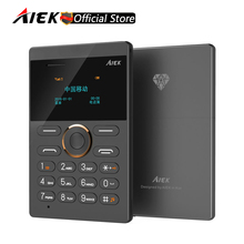 Discount!2016 New Ultra Slim Card Phone AIEK E1 Cell Phone Mobile GSM Bluetooth English Russian Arabic Keyboard Multi Language(China)