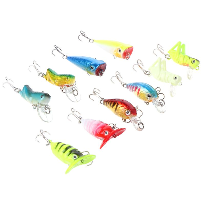 10 Pcs/box Small Mini Fish Soft Bait Bionic Stereoscopic Insect Fake Baits Fishing Auxiliary Accessories Lure Tool G6KF(China)