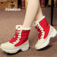 Outdoor snow boots Sneakers Woman Winter warmer tenis feminino casual thigh high boots Bare boots zapatillas mujer size 35 41