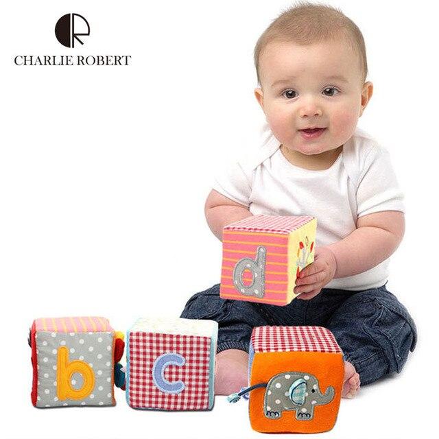 4 шт. детские игрушки по вопросам образования шейкер ребенка мобильный ткань строительные блоки многофункциональных игрушек Infantil руки Trainning погремушка HK1068