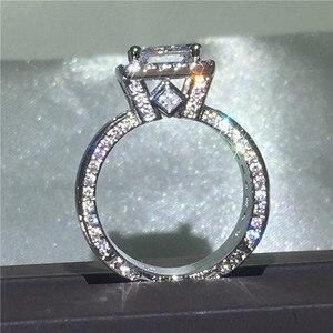 Image 2 - Choucong Vintage Gericht Ring 925 sterling Silber Prinzessin cut AAAAA cz stein Engagement Hochzeit band Ringe Für Frauen Schmuck Geschenk