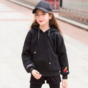 Image 4 - Sudadera con capucha de Color caramelo de invierno para adolescentes con forro polar ropa para chico con capucha 6 7 8 9 10 11 12 13 14 15 16 años