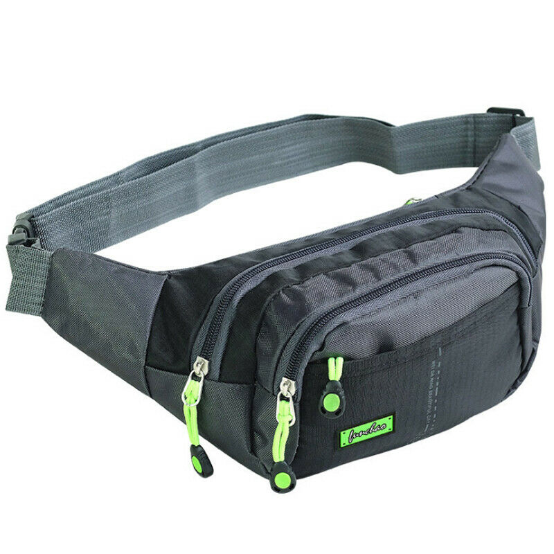 New Bag Canvas Unisex Fanny Pack Waist Hip Belt Bag Purse Pouch Pocket Travel Running Sport Bum High Quality Waterproof