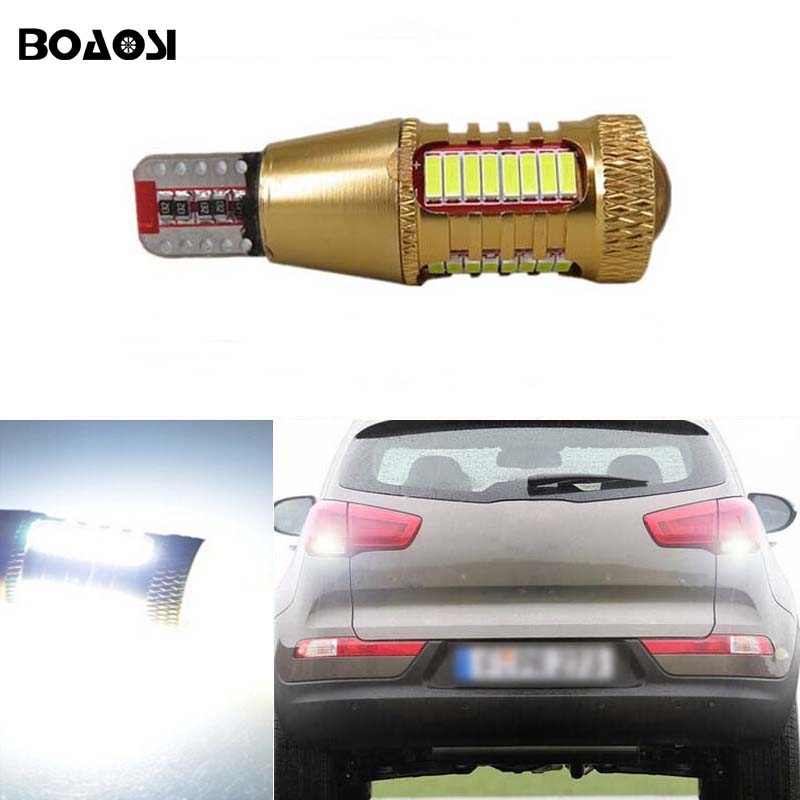BOAOSI 1x Canbus Error Free T15 W16W Car LED Backup Reverse Lights lamps For kia rio sportage k2 k3 k4 k5 cerato sorento soul 1pcs canbus error free t15 car led backup reverse lights lamps for lexus ct es gs gx is is f ls lx sc rx is250 rx300 is350 is300