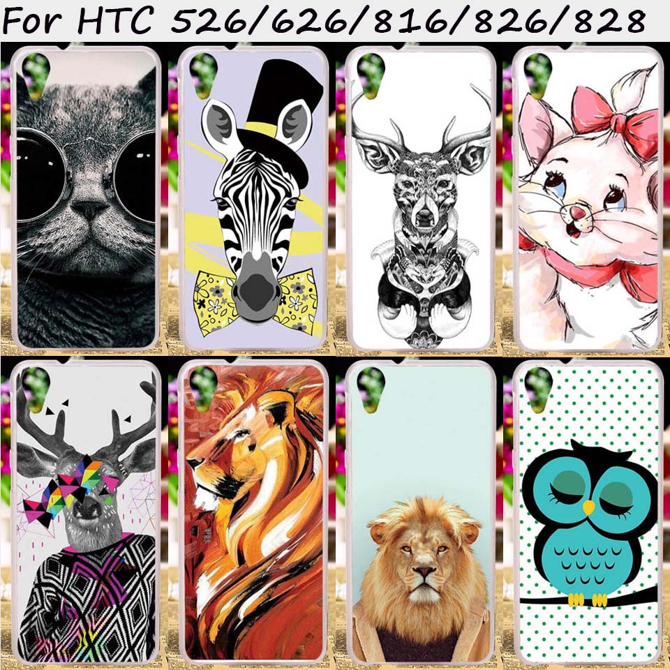 TAOYUNXI Hard Plastic Soft TPU Mobile Phone Cases For HTC Desire 626 628 826 D826 526 326 816 800 828 830 Cover Shell Skins Bags