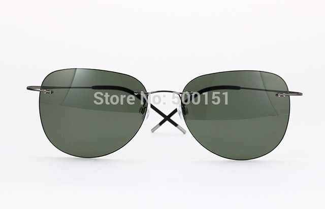 New fashion designer polarized oculos de sol ultra-leve titanium sem aro óculos de sol ultraleves ti pure óculos de sol anti-uva uvb