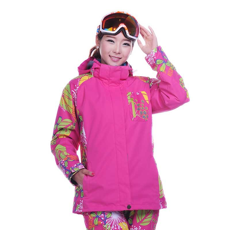 Snowboard outerwear female 2015 NEW Outdoor Climbing clothes sports waterproof double layer skiing font b jacket