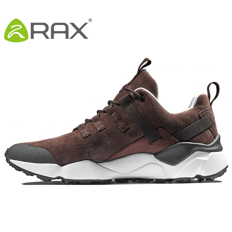 RAX Original Men Running Shoes Suede Leather Outdoor Walking jogging Sneakers Comfortable Athletic sport Shoes zapatos hombre