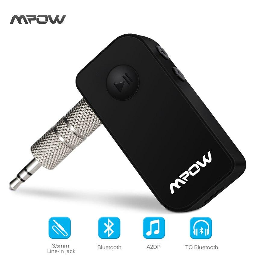 Original Mpow drahtlose Bluetooth 4,1 receiver Freisprecheinrichtung 3,5mm Auto Audio Music Streaming Receiver Adapter Lautsprecher auto-lautsprecher