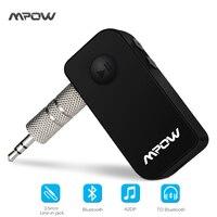 Orijinal Mpow kablosuz Bluetooth 4.1 alıcı Handsfree 3.5mm Araç Ses Müzik Akışı Alıcı Adaptörü Hoparlör araba hoparlör