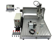 cnc milling machine 6040 VFD800W USB port 4axis wood router with cutter collet clamp vise drilling 1500w spindle 4axis cnc router 3040z with usb port and ball screw cnc machine
