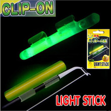 Clip On! 10 bags Fishing Glow Stick Tube XL 3.3X3.7mm Green Fluorescence Chemical Light Wand Fishing Rod Top Tip Luminous Stick