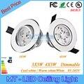 9 W 12 W Led Downlights lâmpadas Led regulável 95 - 265 V conduziu a lâmpada embutida Led com motorista frete grátis