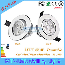 9W 12W Led Downlights Led Bulbs Dimmable  95-265V Led Recessed lamp led light with driver free shipping