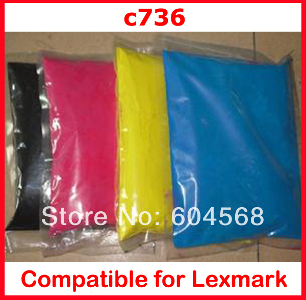 High quality color font b toner b font powder compatible Lexmark c736 736 c730 730 Free