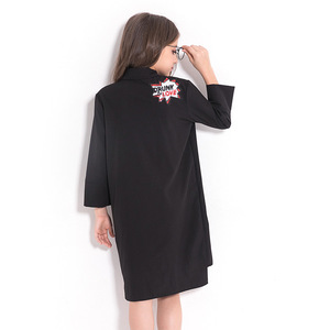Image 2 - فستان بناتي للأطفال المراهقات فستان شيفون أسود غير رسمي للخريف بأكمام طويلة مطرز بالترتر للأطفال ملابس للبنات 8 10 12 سنة