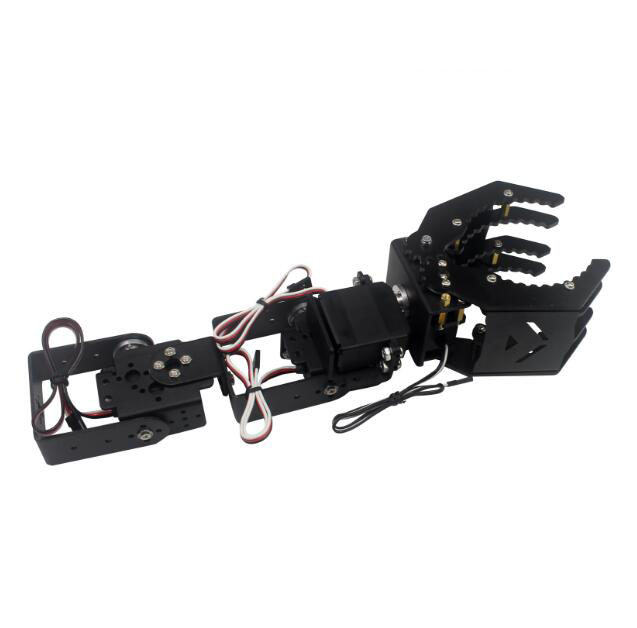Free Shipping 1 Set DIY Racing Robot Arm 500g Mechanical Arm With Hand Paw LD 1501MG LDX 335 Digital Servo Set Spare Parts