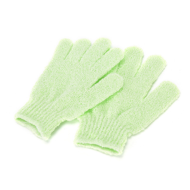1 Pair Shower Bath Gloves Exfoliating Wash Skin Spa Massage Body Scrubber Cleaner Bathing Cleaning Products Random Color 5