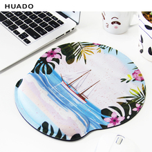 купить Comfort Mouse Mat with soft wrist rest Ergonomic mouse pad Professional Optical Trackball PC Thicken Mouse Pad Support Wrist дешево