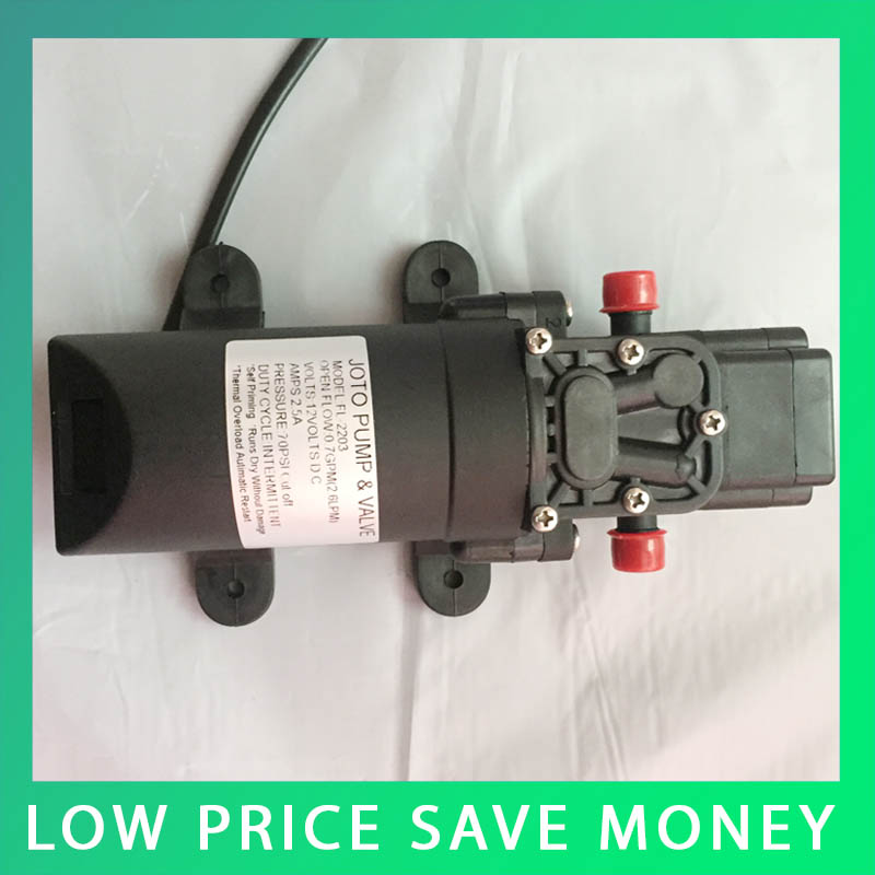 35Psi High Pressure Water Pump Micro Electric Diaphragm Pump 12V DC Large Flow Self-Priming Pump For Home Car Washer Use high pressure pumps dc 12v dc micro diaphragm pump priming pump spray pump