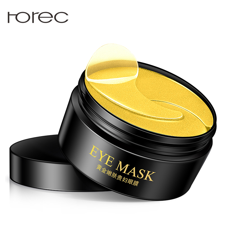 ROREC 24K Gold Eye Mask Anti Aging Moisturizing Eye Sleep Mask Removal Dark Dircles Against Puffiness And Bags Eye Care 60Pcs in Creams from Beauty Health