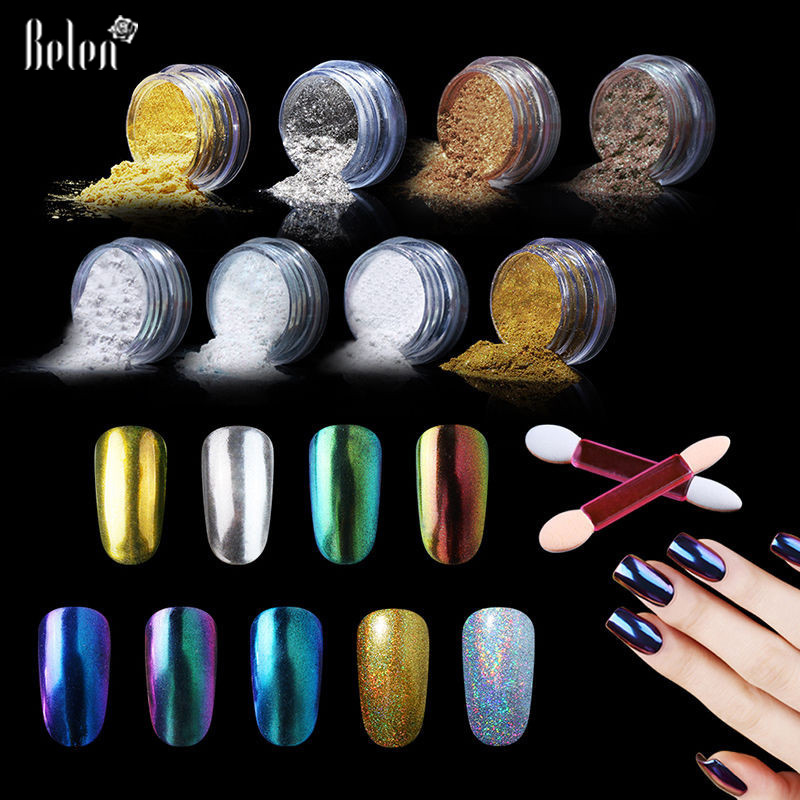 Belen Metallic Mirror Effect Holographic Chrome Powder ...