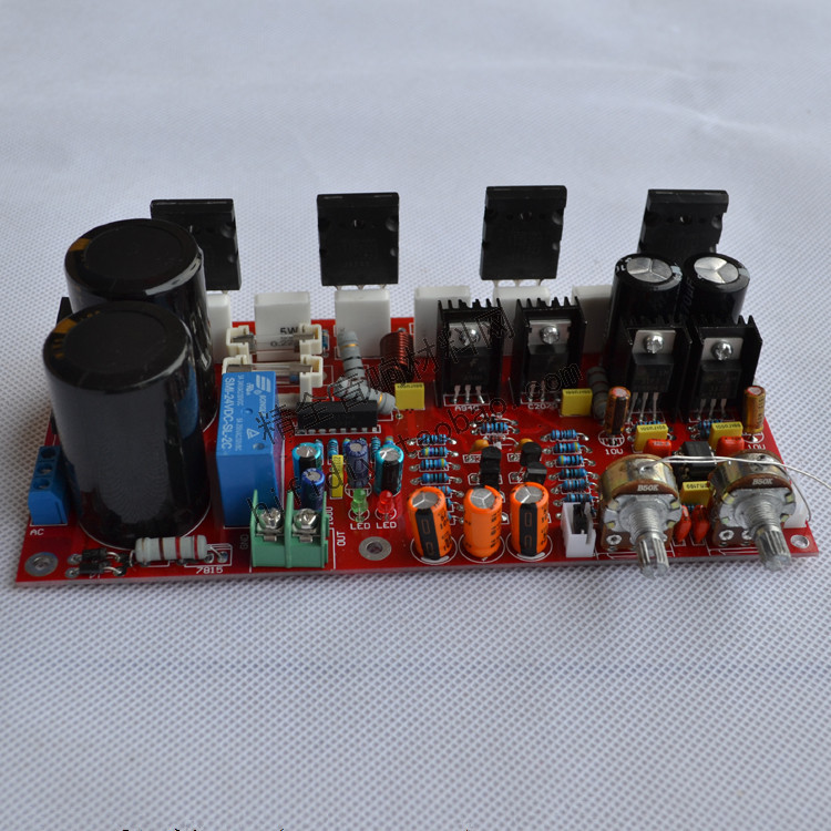 Fever active subwoofer amplifier board Toshiba two pairs of tube C5200 / A1943 Output Power 300W krell ksa100 c5200 a1943 260w 2 class ab power amplifier board