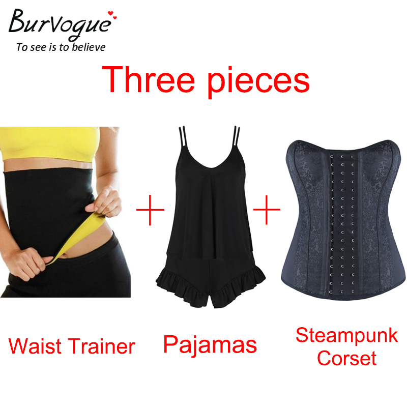 Burvogue 3 in 1 / 3 pieces Sexy   Corsets   and   Bustiers   Overbust   Corset   Slimming Hot Shapers   Bustier     Corset     Bustier   Tops for Women