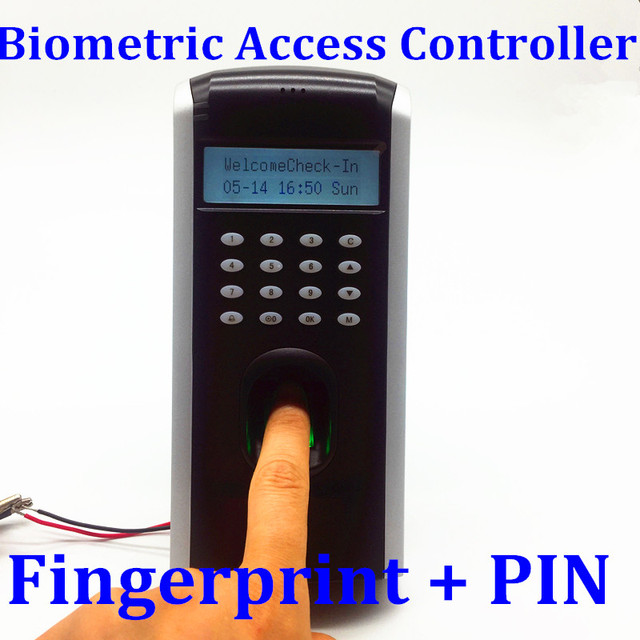 US $55 89 |F7 Digital Biometric Access Controller Employee Time Attendance  Finger Punching Machine With Doorbell Button TCPIP Interface-in Fingerprint