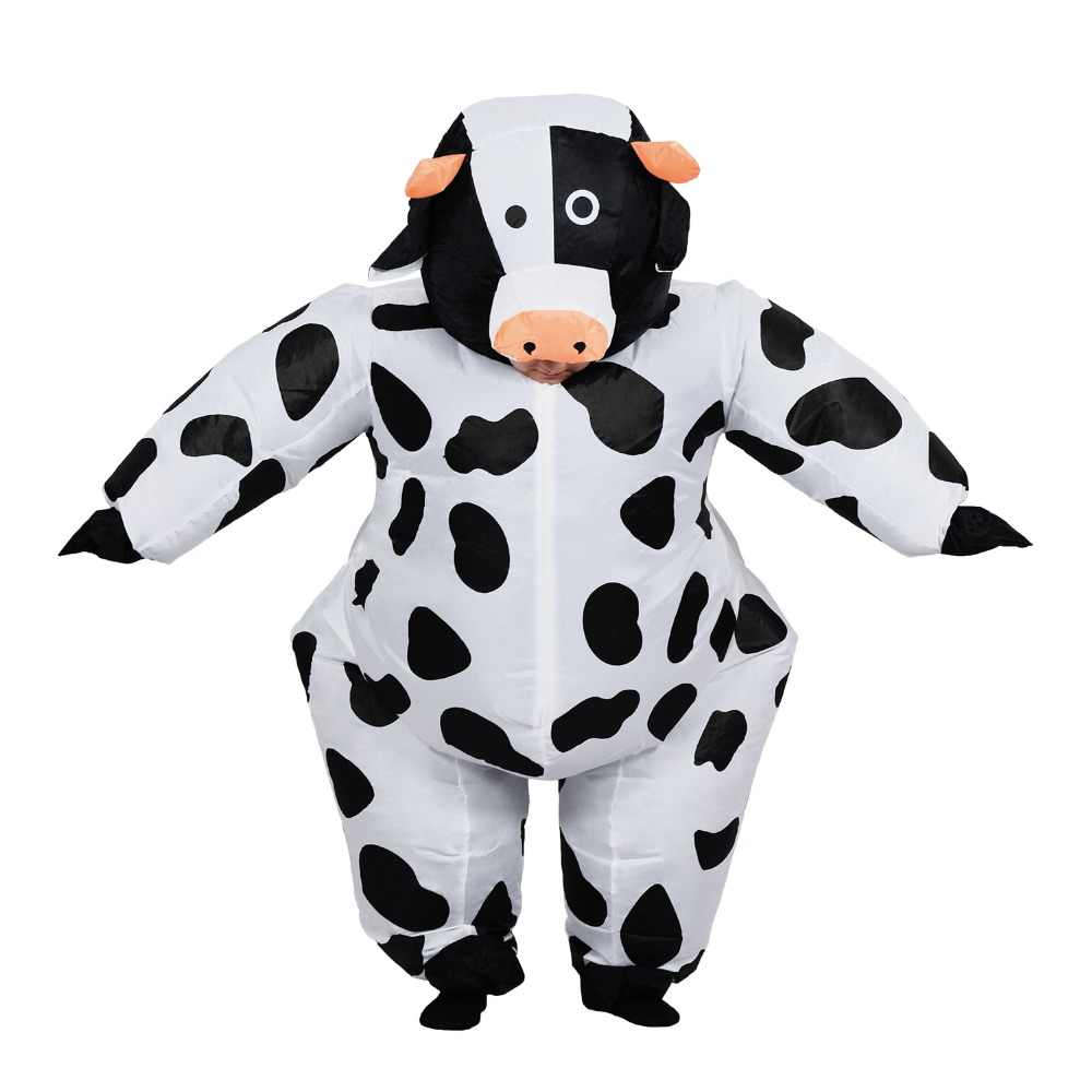 d0befeb0 Inflatable Cow Costume for Adult Women Men Kid Boy Girl Halloween Party  Carnival Cosplay Dress Blow Up Suit Animal Mascot Outfit