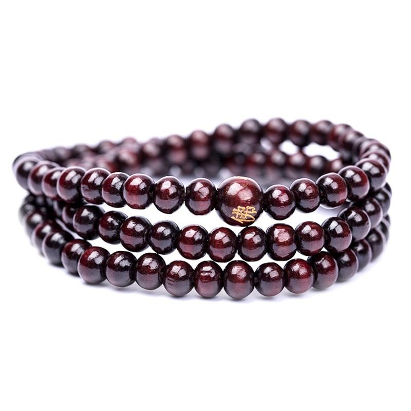 6mm Natürliche Sandelholz Buddhistischen Buddha Meditation 108 perlen Holz Gebetskette Mala Armband Frauen Männer schmuck