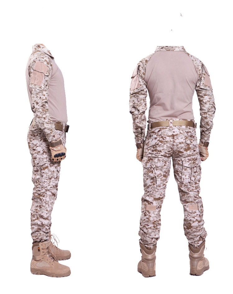 Desert digital camo Hunting Clothes with Gen2 Knee pads Combat uniform Tactical gear shirt and pants Army BDU set ...