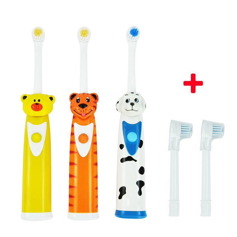Cepillo de dientes eléctrico para niños cepillos de dientes para bebés masaje eléctrico cuidado de los dientes cepillo dental Oral con unids 3 cabezales para niños