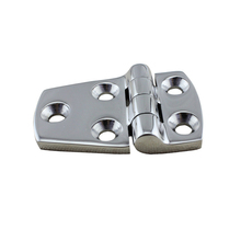 цена на Stainless Steel Marine Hardware Silver Door Butt Hinge Cabinet Drawer Boxes Hinge Boat 38*57MM