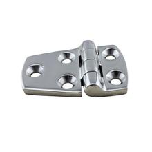 Ze stali nierdzewnej sprzęt morski srebrny drzwi zawias szafki pudełka z szufladami zawias łodzi 38*57 MM