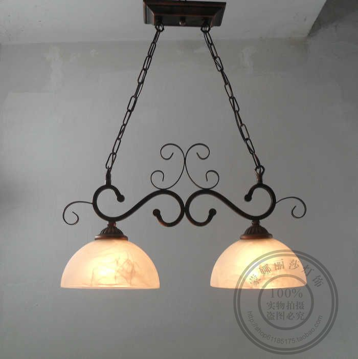 European garden lighting pendant lamps retro village double dining room lamp special offer iron bar 2 heads pendant lights a1 master bedroom living room lamp crystal pendant lights dining room lamp european style dual use fashion pendant lamps