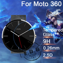 0 26mm 9H Explosion Proof Anti scratch LCD Tempered Glass Film For Motorola Moto 360 watch