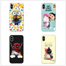 My Unicorn Agnes Minions soft TPU Case For iphoneX 10 deadpool on unicorn iphone 5 11 11PRO MAX SE 6S Plus 7 Cover