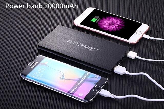 2017 НОВЫЙ Универсальный 20000 мАч Power Bank Портативный Внешний Аккумулятор Dual USB Зарядное Устройство Резервного Питания Для iphone xiaomi samsung