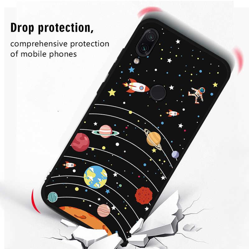 Voor Xiaomi Redmi Note 7 Case Leuke Space Patroon Painted Tpu Cover Voor Redmi Note 8 6 5 Pro 7A s2 6A 5A 5 Plus 6 4X Slanke Fundas