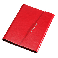 RuiZe Creative Tri Fold Notebook A5 Leather Spiral Notebook Planner Notepad Hard Cover 6 Ring Binder