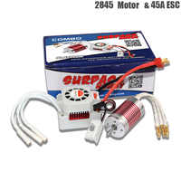 Platinum Waterproof 4 Poles 2845 4370/3930/3800/3100KV Motor + 45A Electronic Speed Controller For 1/12 1/14 RC Car