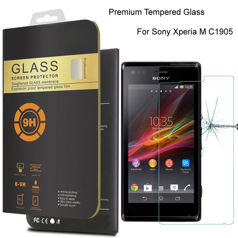 For Sony Xperia E5 S39H L S36H M C1905 SP M35H ZR M36H M2 M4 Aqua M5 V LT25i X Performance Tempered Glass Film Screen Protector